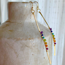 Gold Chakra Stripe Stick Earrings