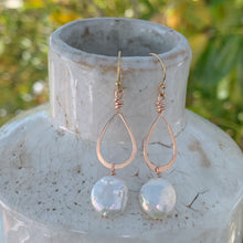 Petite Coin Pearl Rose Gold Earrings