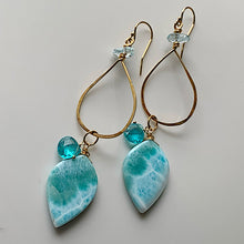 Larimar Teardrop Earrings