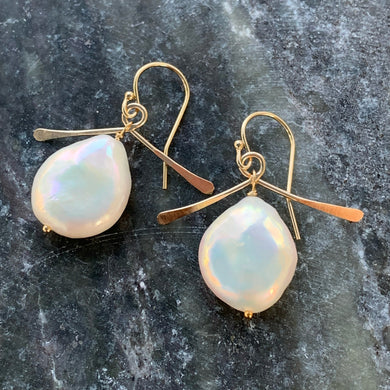 Wisdom Pearl Earrings (Gold)