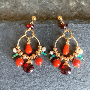 Coral Palace Petite Chandelier Earrings