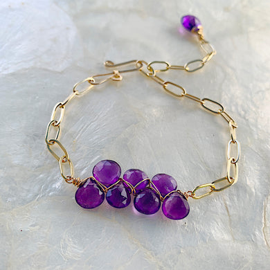 The Horizon Bracelet- Amethyst