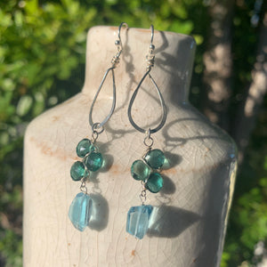 Sea Spray Sterling Teardrop Hoops