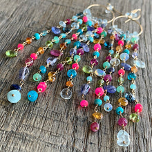 Jellyfish Whimsy Gemstone Chain Duster Earrings