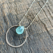 Circle Solitaire: Aquamarine on Sterling Silver