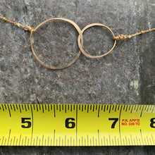Gold Double Circles Necklace (Medium) 16""
