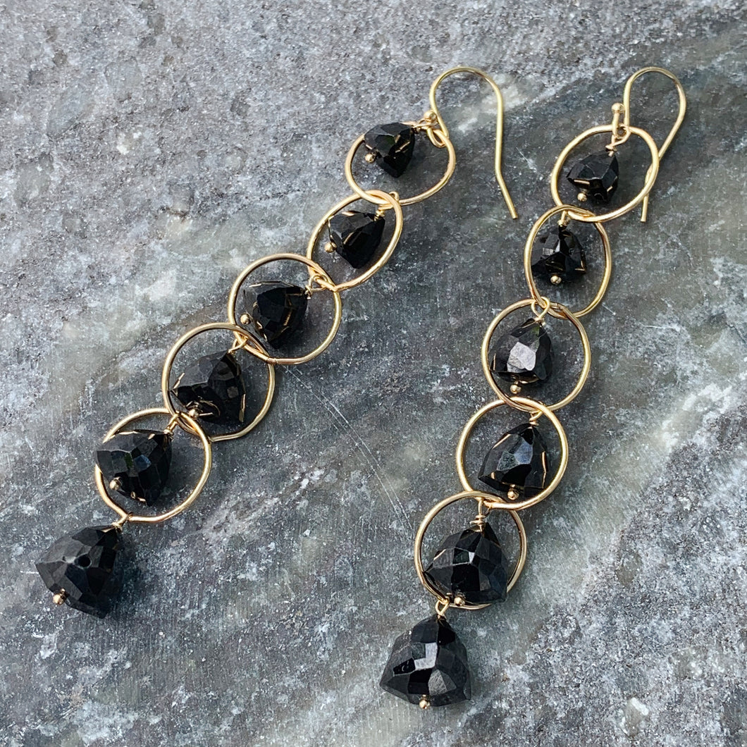 Black Spinel Moonstone Dusters