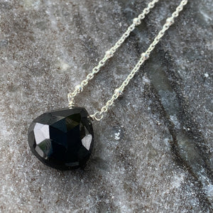 Solitaire: Sterling and Black Spinel