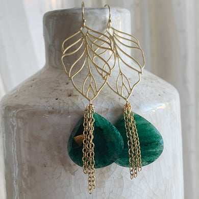 Verdant Leaf Earrings