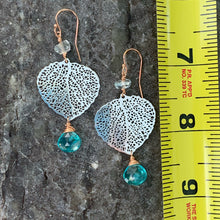Birch Leaf Earrings with Apatite