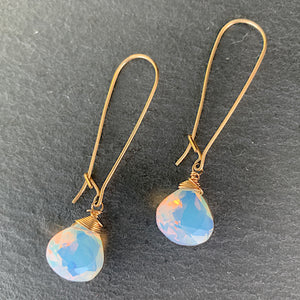Opalite Simplicity Long Earrings