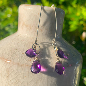 Amethyst Duo Long Earrings