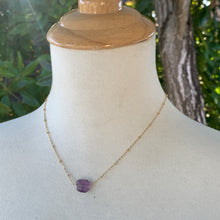 Nugget Solitaire: Amethyst on Gold