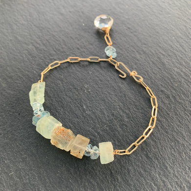 The Horizon Bracelet- Aquamarine