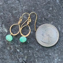 Petite Chrysoprase Gold Earrings