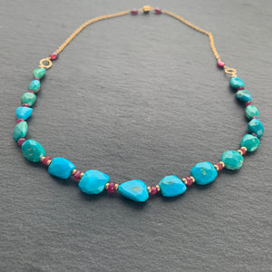 Ruby and Turquoise Necklace