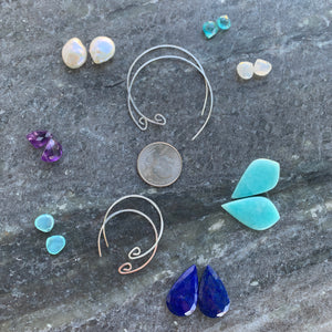 Custom Infinite Sterling Hoops