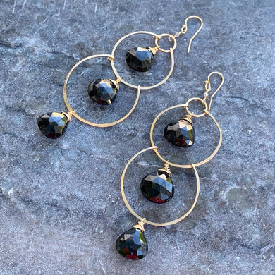 Black Spinel Gemstone Triple Decker Dusters