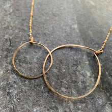 Gold Double Circles Necklace (Large)