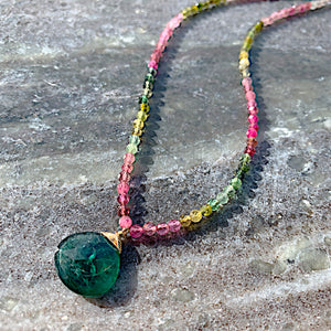 Watermelon Tourmaline Camille Necklace