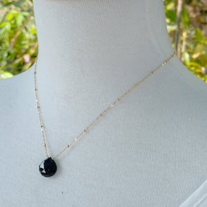 Solitaire: Gold and Black Spinel