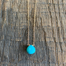 Luxe Petite Collection: Sleeping Beauty Turquoise on 14k Gold