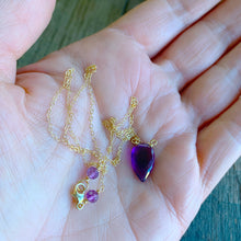 Luxe Petite Collection: Amethyst on 14k Gold