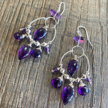 Sterling Amethyst Chandelier Earrings