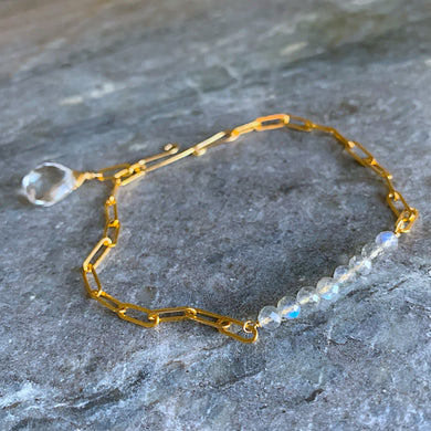 The Horizon Bracelet- Labradorite