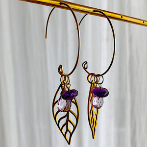 Infinite Gold Hoops in Mystic Leaf