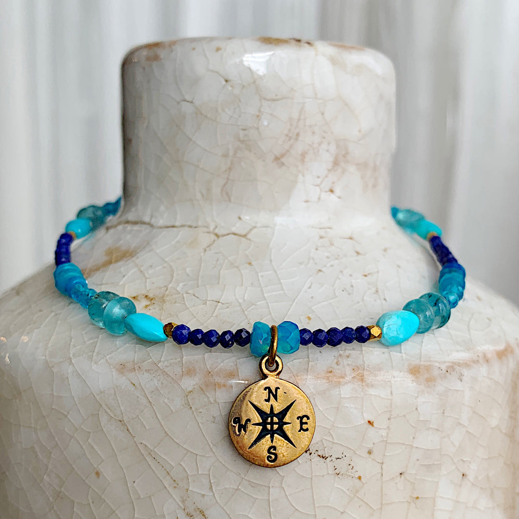Endless Summer Compass Rose Gold Bracelet