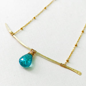 Apatite Branch Necklace