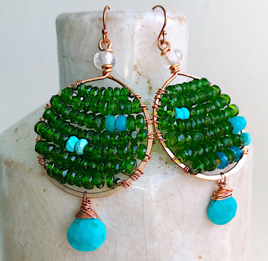 Green Majesty Earrings