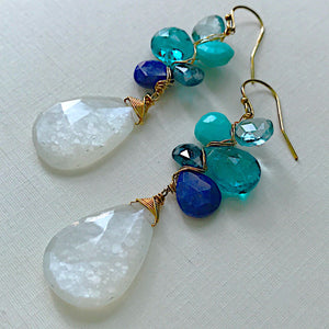 Moonlight Ocean Woven Earrings