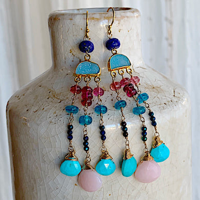 Moon Jelly Mini Chandelier Earrings