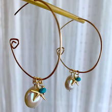 The Infinite Gold Hoops in White Star