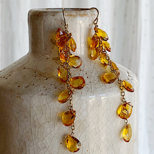 Sun Showers Citrine Earrings
