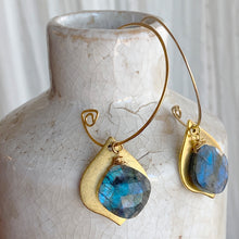 Infinite Gold Hoops in Lotus Opal