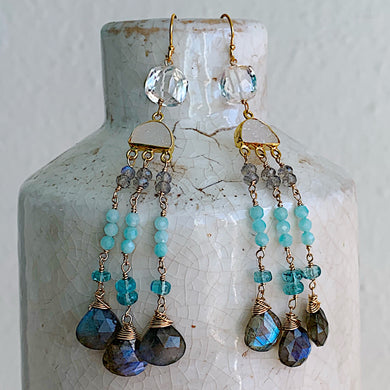 Moonrise Mini Chandelier Earrings