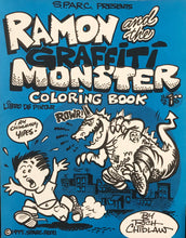 "Vintage SPARC ""Ramon and the Graffiti Monster"" Coloring Book"