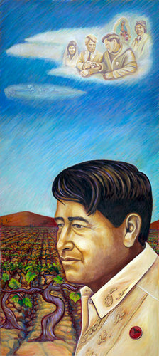 Cesar Chavez Monument Piece by Judy Baca