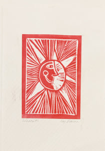Linocut One-of-a-Kind Cowboy Collection Cards by Kay Brown