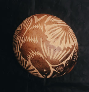 Decorative, Etched Mini Bowl