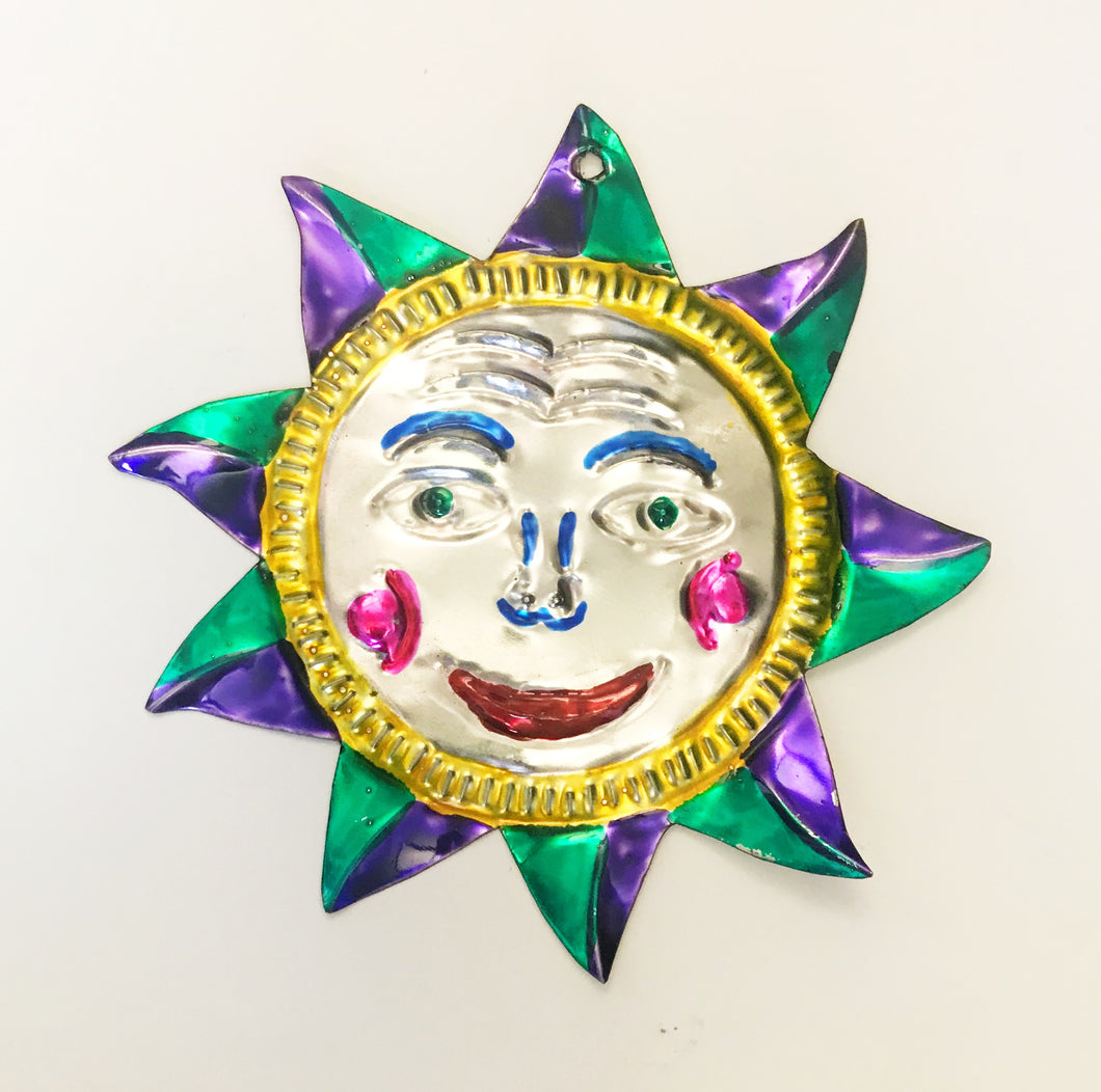 Oaxacan Sun Tin Ornament