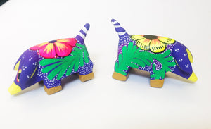 Oaxacan Hand-Painted Miniature Pigs