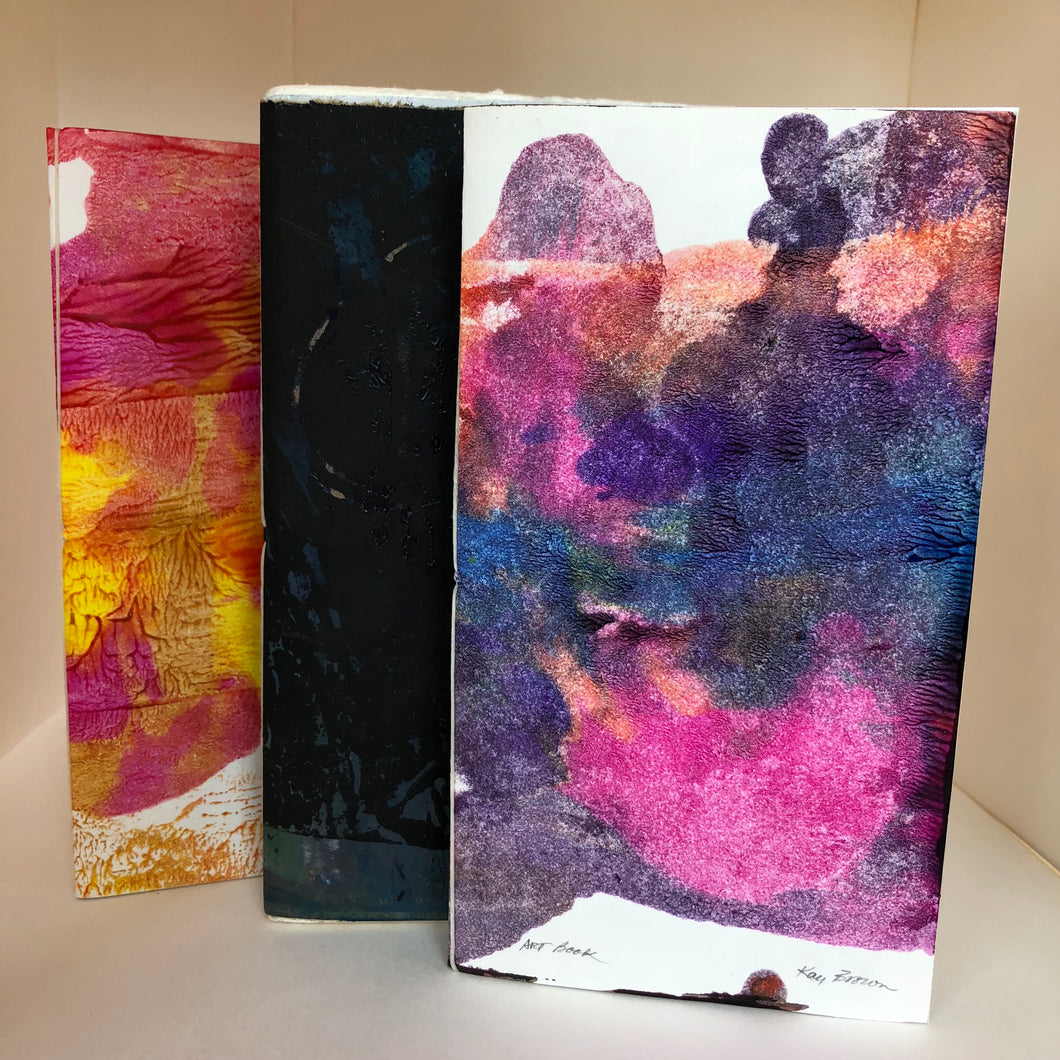 Hand Printed One-Of-A-Kind Notebooks, 3-pack by Kay Brown