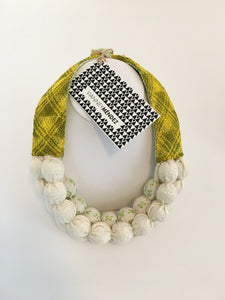 Vianney Méndez Necklace White and Yellow, Short