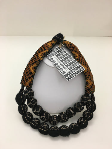 Vianney Méndez Necklace Black and Brown, Short