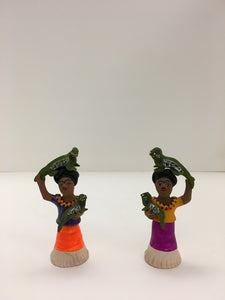 Handmade and signed Ceramic Mexican Women