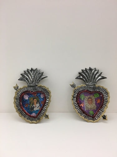 Frida Kahlo Heart Tin Wall Hangings